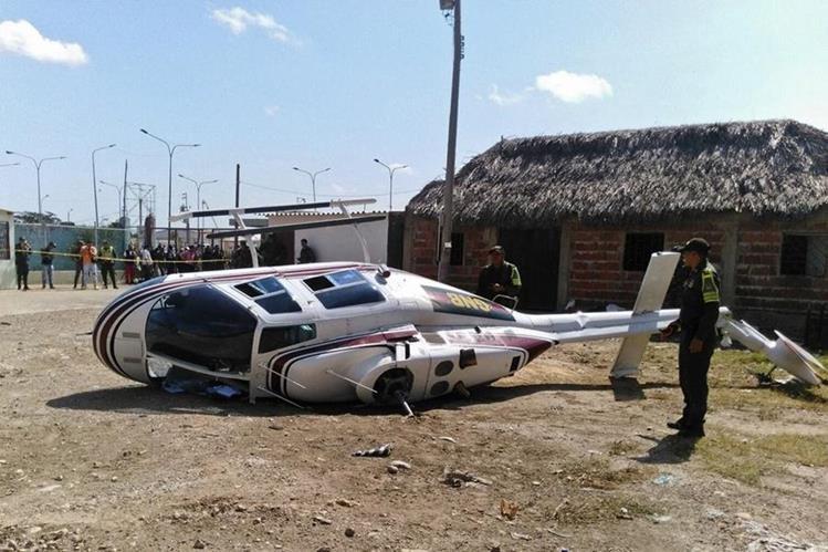 El accidente de la aeronave causó dos personas heridas. (Foto Prensa Libre: AFP).