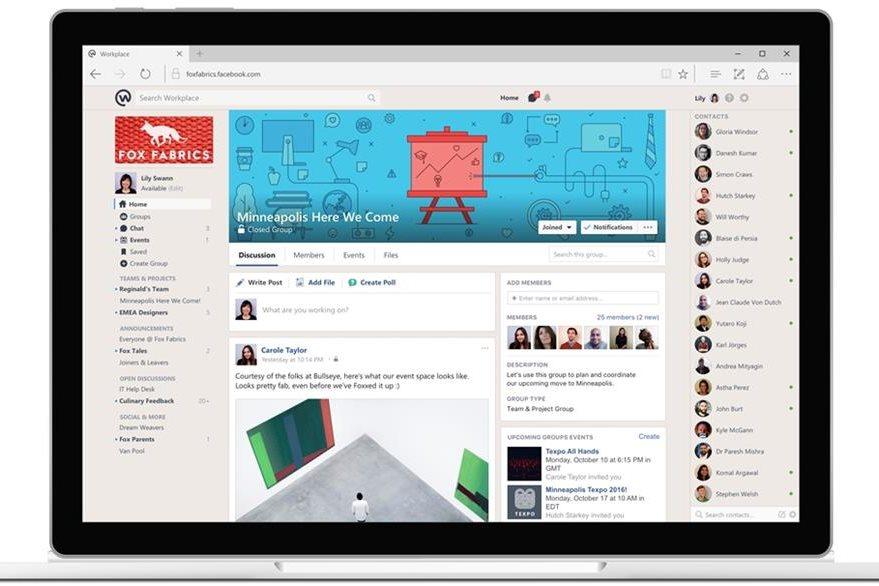Facebook lanza una herramienta de comunicación para las empresas, organizaciones no lucrativas y otras organizaciones. (Foto Prensa Libre: AP)