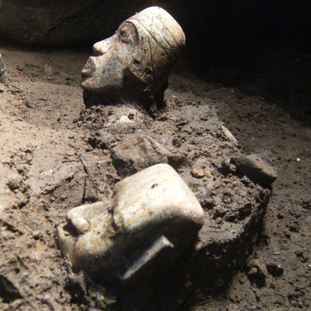 l trabajo se fue haciendo a mano, de manera muy lenta y cuidadosa, para no dañar los artefactos. SERGIO GÓMEZ