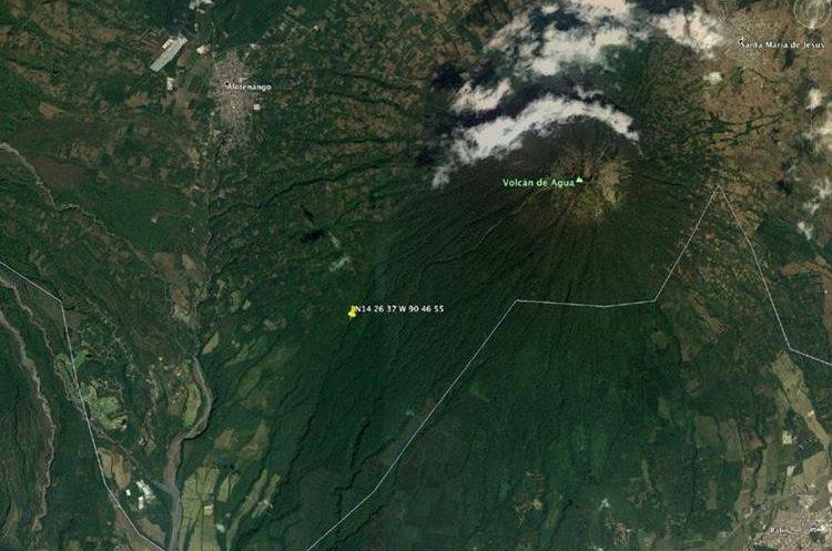 Esta es la zona en la cual se tuvo el último contacto con la aeronave. (Foto Prensa Libre)
