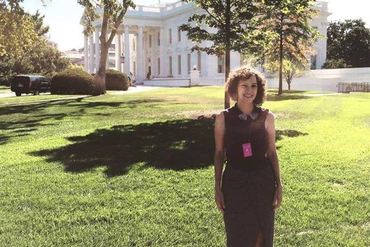 Gaby Moreno visitó la Casa Blanca. (Foto Prensa Libre: Tomada de instagram.com/gaby_moreno)