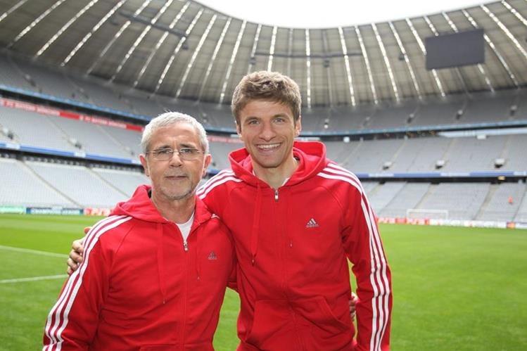 Thomas Müller mantiene un cariño especial a Gerd Müller por el apoyo y consejo además de su gran trayectoria. (Foto Prensa Libre: Hemeroteca PL)