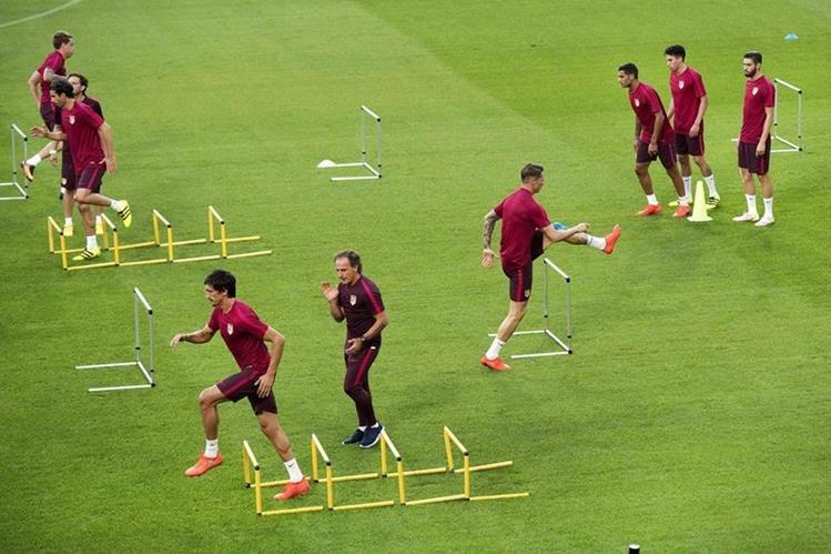 El cuadro colchonero no quiere perder otra Champions League y buscará empezar con el pie derecho. (Foto Prensa Libre: AFP)