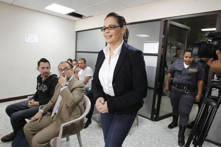 Roxana Baldetti en el Juzgado de Mayor Riesgo C, en la audiencia de fase intermedia de los implicados del caso Agua Mágica. (Foto Prensa Libre: Hemeroteca PL)