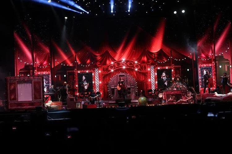Este es el escenario utilizado en la gira Circo Soledad
