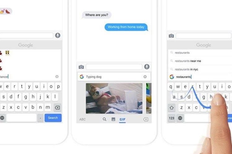 Con Gboard no es necesario tener que salir de la app en la que estamos para abrir el buscador. Todo se hace de manera sencilla y rápida. (Foto Prensa Libre: Google Blog).