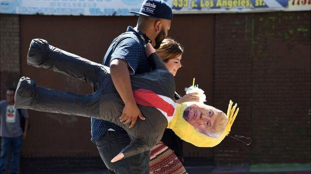 También son populares las piñatas de Donald Trump. GETTY IMAGES