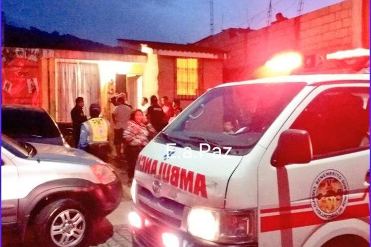 Laura Beatriz Morales Molina, de 30 años, murió dentro de una vivienda en Planes de Bárcenas, Villa Nueva (Foto Prensa Libre: Pampichí News)