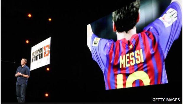 Messi fue portada del popular videojuego entre 2013 y 2016.