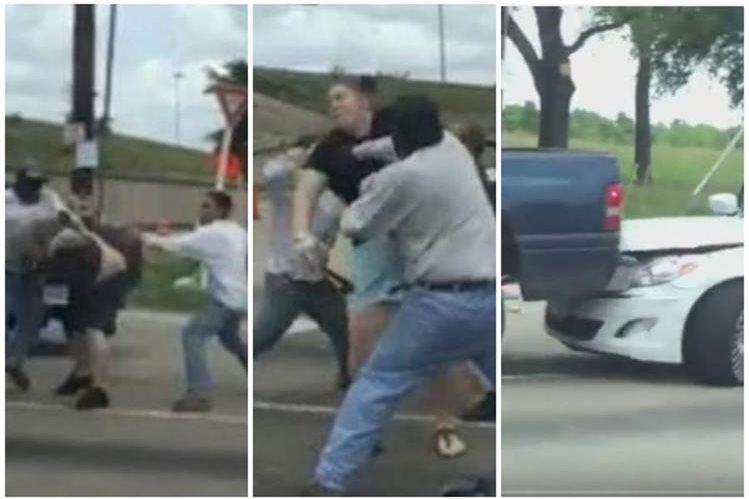 El pleito de tránsito pasó de los gritos a los puños. (Foto Prensa Libre: Internet)