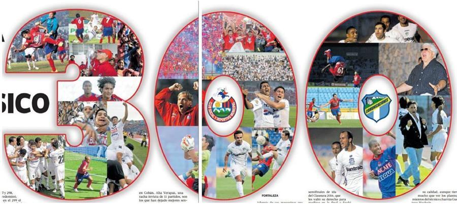 300 clásicos llenos de historia en el futbol guatemalteco. (Foto Prensa Libre: TodoDeportes)