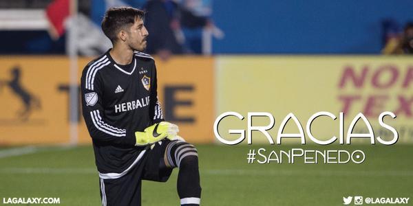 Tras dos años en el equipo, Jaime Penedo deja el Galaxy de los Ángeles. (Foto Prensa Libre. Twitter Galaxy)