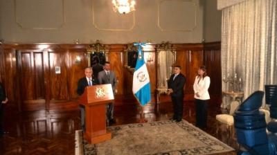 Eunice Mendizábal fue juramentada como ministra de Gobernación. (Foto Prensa Libre: Geovanni Contreras)