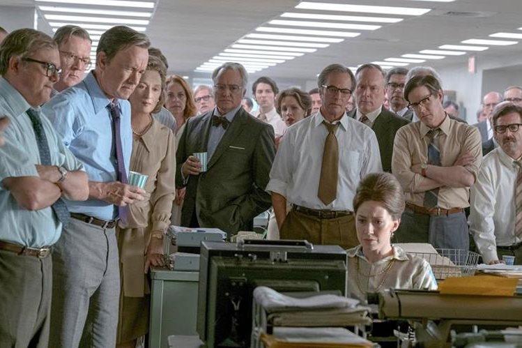 La redacción del Washington Post, en una de las escenas de la película (Foto Prensa Libre: 20th Century Fox/DreamWorks).