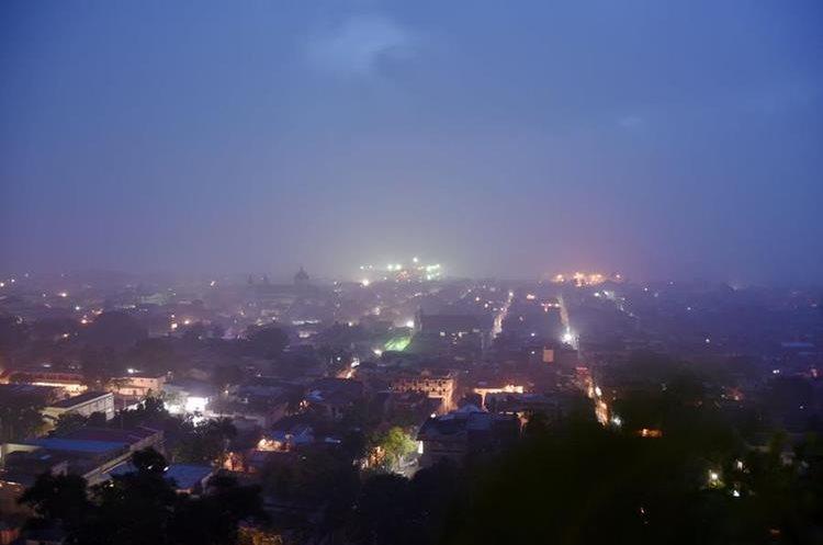 Así podía verse Puerto Príncipe, Haití, durante el paso del Huracán Irma.