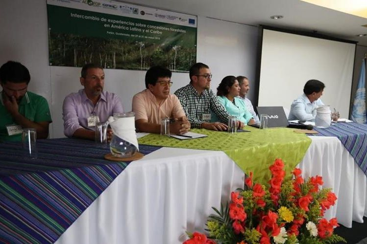 Autoridades y representantes de distintas organizaciones que velan por el ambiente participan en intercambio de experiencias sobre las concesiones forestales. ((Fotos Prensa Libre: Óscar García)