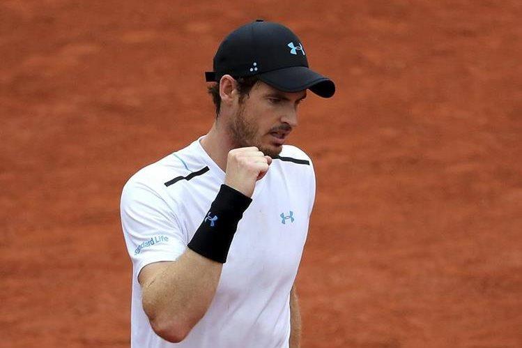 Murray logró el pase a siguiente ronda dejando en el camino al argentino Del Potro. (Foto Prensa Libre: EFE)