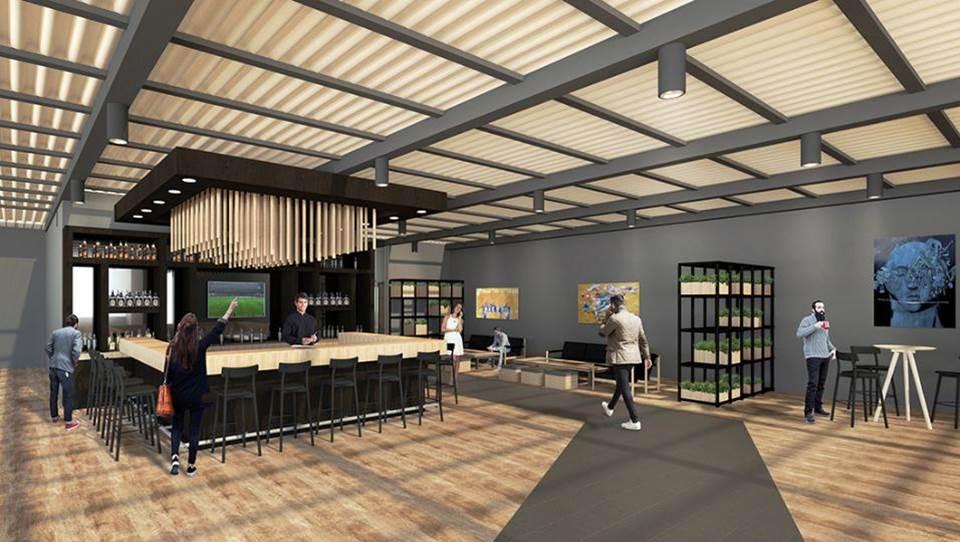 Así quedará el área social en el nuevo edificio de Agexport.