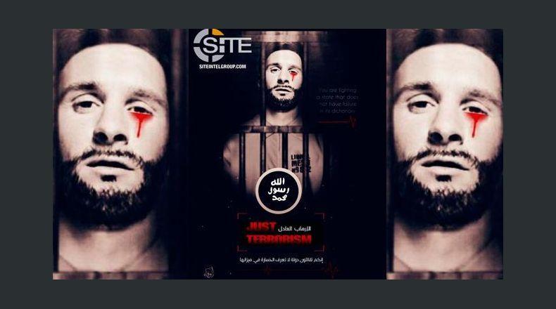 Imagen completa del montaje que se ha difundido el estado islámico para amenazar el Mundial. (Foto Redes).
