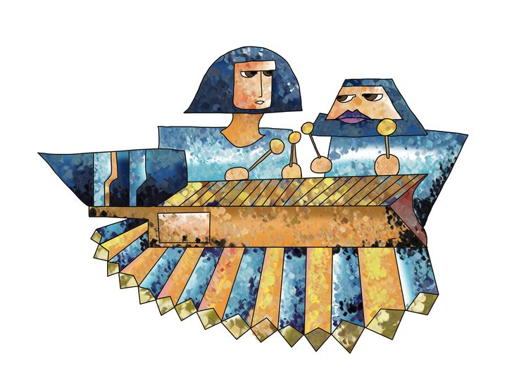 Este instrumento musical fue elevado a la categoría de símbolo patrio el 31 de agosto de 1999.(Ilustración Prensa Libre: Kevín Ramírez).