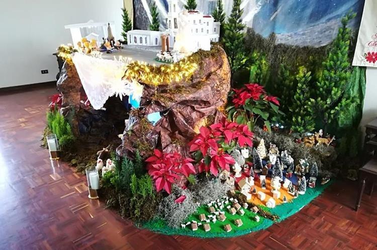 La elaboración del Nacimiento del Niño Jesús tardó 15 días. (Foto Prensa Libre: Cortesía).
