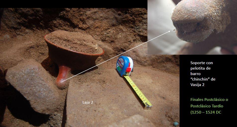 Objetos encontrados son importante para determinar la antigüedad del sitio. (Foto Prensa Libre: Parque Arqueológico Nacional Tak'alik Ab'aj/Proyecto Arqueológico Los Ángeles).