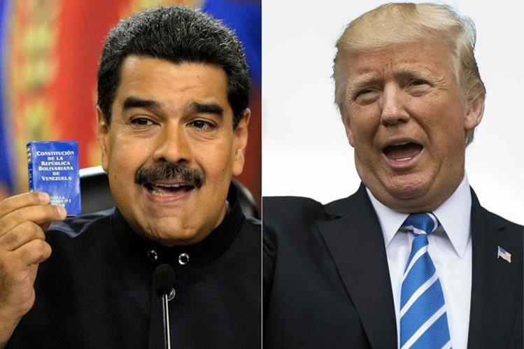 La tensión se centra a ahora en EE. UU. y Venezuela por escalada verbal de mandatarios. (Foto Prensa Libre: AFP)