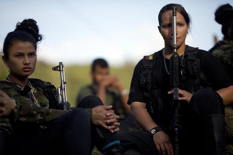 Combatientes de las Farc, una guerrilla de origen campesino y orientación comunista. (Foto Prensa Libre: AP).