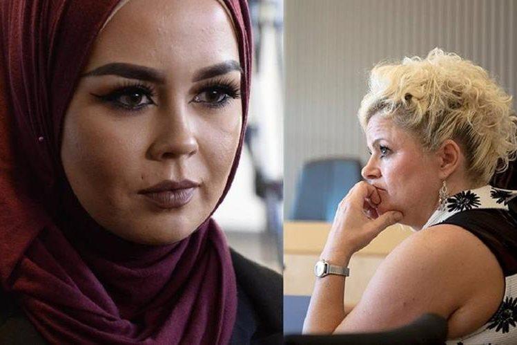 Malika Bayan, (i) fue expulsada de la peluquería por Malika Bayan. (EFE).