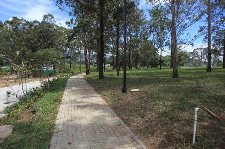 Caminamientos en el área donde se construye el centro comercial la Arboleda. (Foto Prensa Libre: Esbin García)