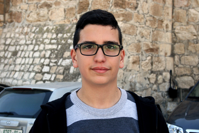 Fadi Freidsh tiene 15 años y vive en Belén. (DPA).