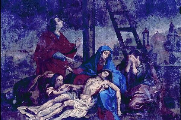 <p>La piedad,  obra de Tomás de Merlo, es uno de los cuadros al óleo sustraídos el 5 de febrero último.</p>