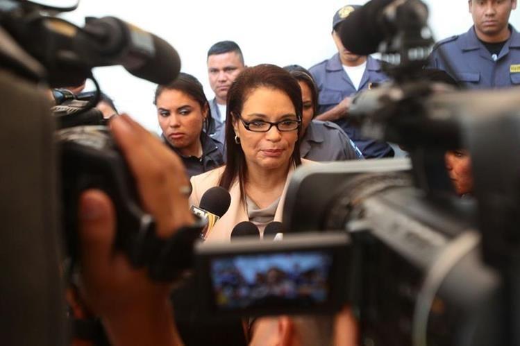 Roxana Baldetti dice no temer a las declaraciones de Estuardo González por el caso La Línea. (Foto Prensa Libre: Álvaro Interiano)