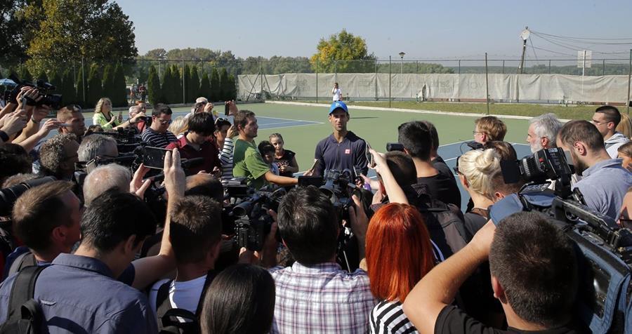 El numero uno del mundo Djokovic espera recuperar pronto su nivel. (Foto Prensa Libre: AFP)