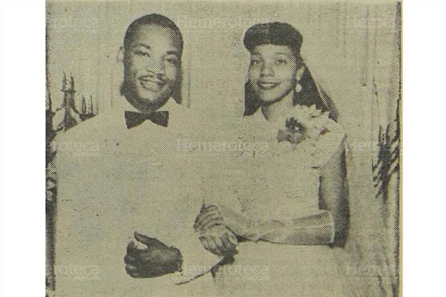 Martin Luther King, Jr. junto a su esposa  Coretta Scott se casaron en Alabama, en el año 1953.(Foto: Hemeroteca PL)