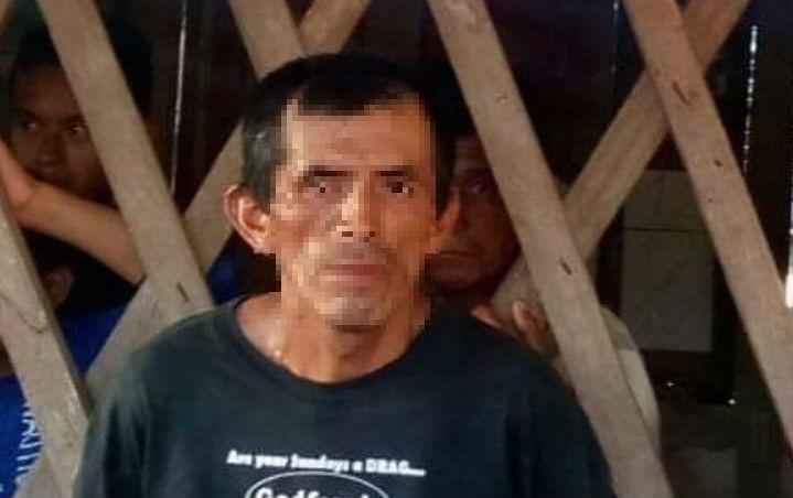 Mario Tut Ical, de 42 años, es sospechoso de haber desmembrado a su conviviente en Chisec. (Foto Prensa Libre: Aura Andersen)
