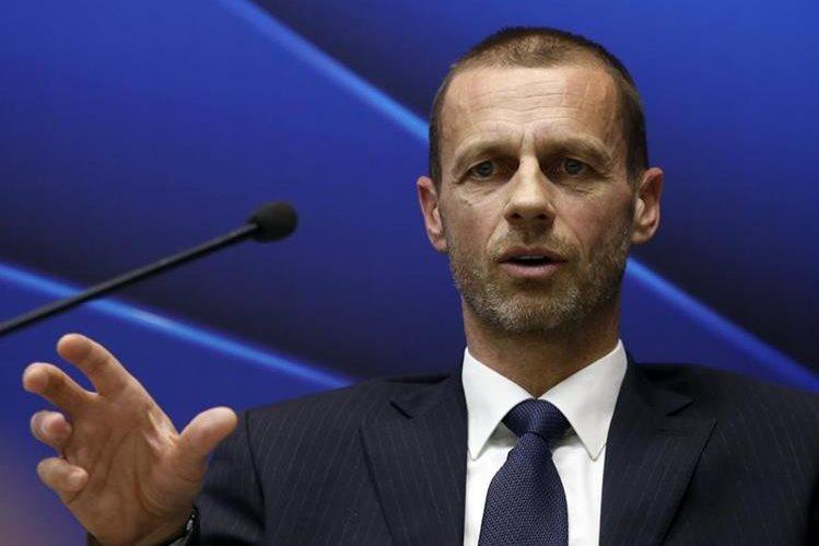 """El presidente de la UEFA, Aleksander Ceferin, acusó el miércoles a las principales ligas europeas de intentar """"chantajear"""" al organismo regulador. (Foto Prensa Libre: AFP)"""