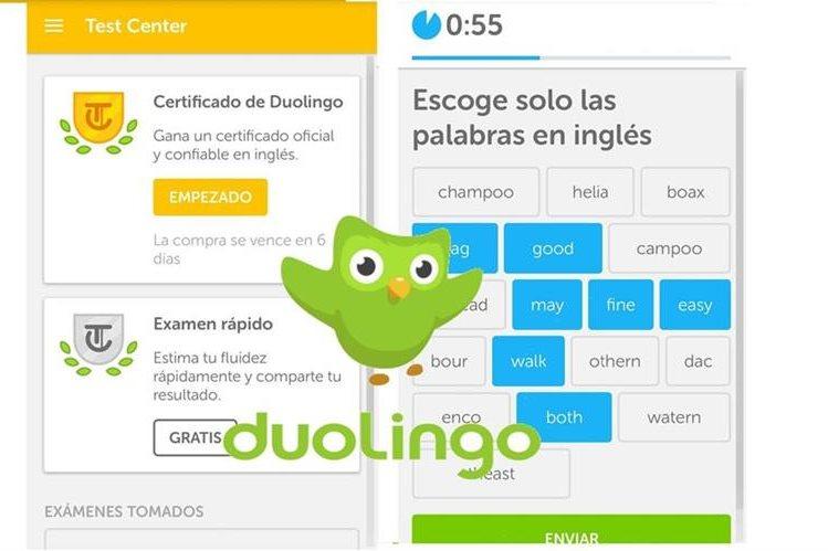 El Examen Rápido Duolingo le ayudará a millones de personas a ahorrar dinero. (Foto Prensa Libre: Duolingo)