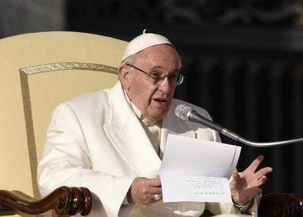 El Papa durante la audiencia general de los miércoles en el Vaticano.