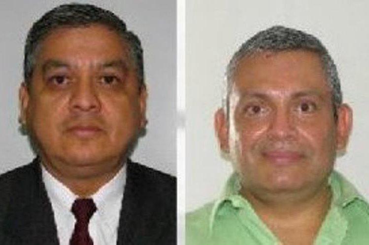 Los magistrados Marwin Herrera y Carlos Lucero son acusados por el Ministerio Público de cohecho pasivo. (Foto Prensa Libre: MP)