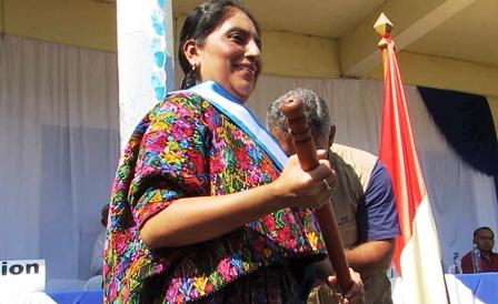 Lilian Irlanda Pop Coy, alcaldesa de San Agustín Lanquín. (Foto Prensa Libre: cortesía Ángel Oliva)