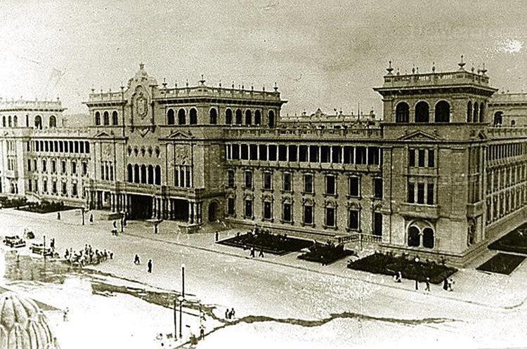 Palacio Nacional de la Cultura, la última obra de Jorge Ubico. (Foto: Hemeroteca PL)