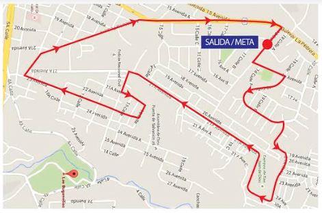 Este es el recorrido de la carrera del próximo domingo. (Foto Prensa Libre: Cortesía)