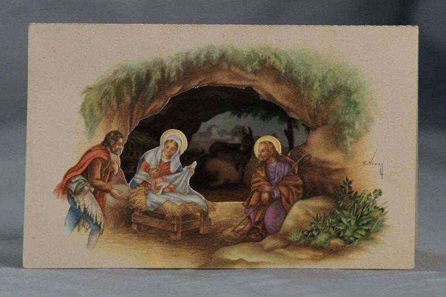 Imagen de una tarjeta navideña del siglo XX.