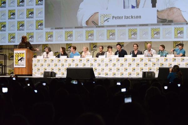 <p>El equipo de The Hobbit asistió al Comic-Con en Estados Unidos. (Foto Prensa Libre: AP)</p>