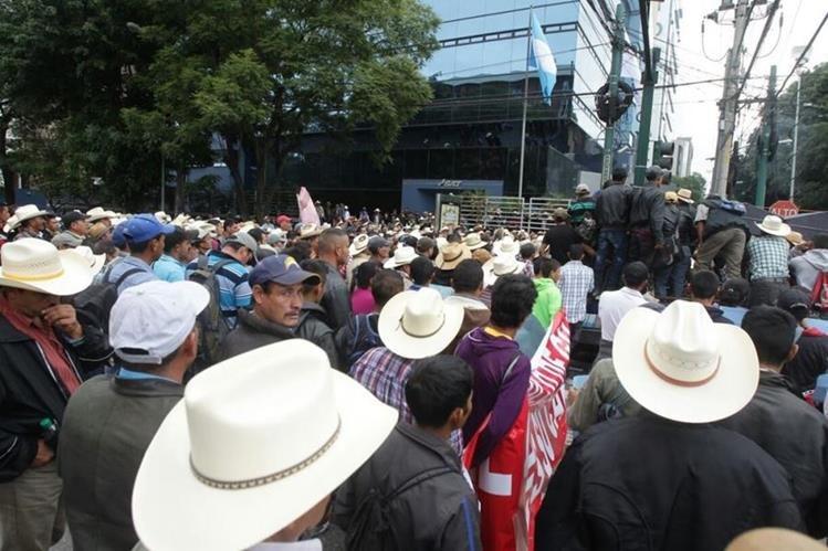 Los agricultores piden apoyo al sector caficultor. (Foto Prensa Libre: Álvaro Interiano)