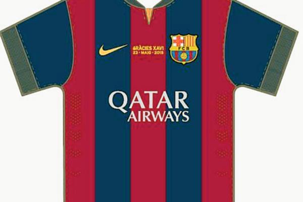 Este es el diseño de la camiseta que utilizarán los jugadores del Barcelona frente al Deportivo. (Foto Prensa Libre: FC Barcelona)