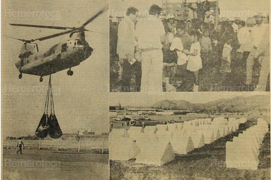 Helicóptero Schinook, de EE. UU., traslada ayuda enviada por diversos países. (Foto: Hemeroteca PL)