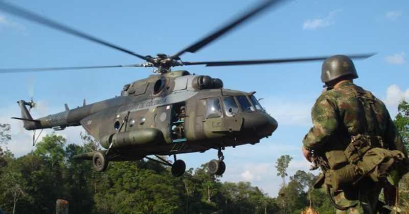 Helicóptero MI-17 de fabricación rusa desapareció en Quibdó, departamento del Chocó. (AFP)
