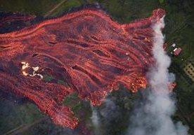 Impresionantes imágenes de erupción volcánica en Hawai